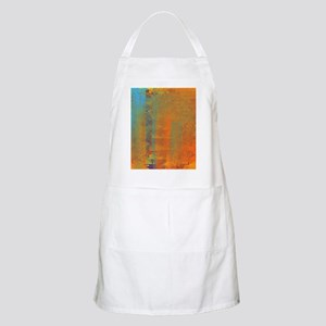 Abstract in Aqua, Copper and Gold Apron
