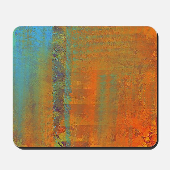 Abstract in Aqua, Copper and Gold Mousepad