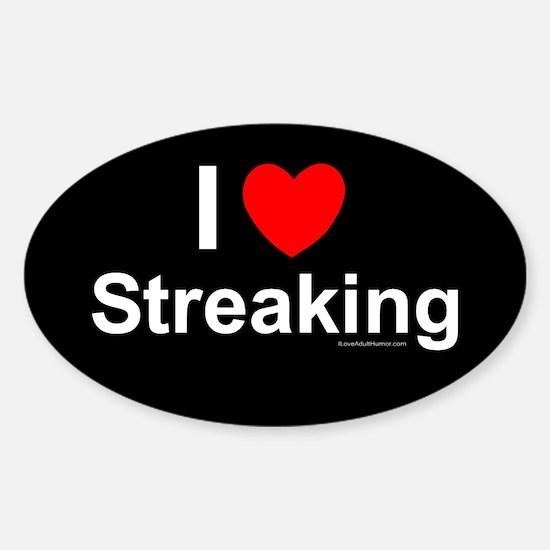Streaking Sticker (Oval)