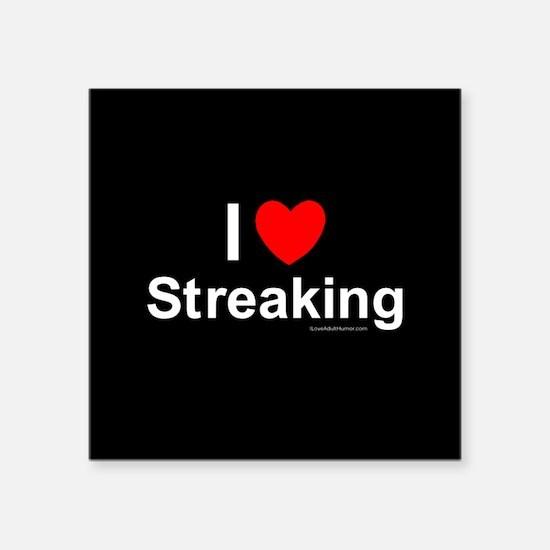 "Streaking Square Sticker 3"" x 3"""