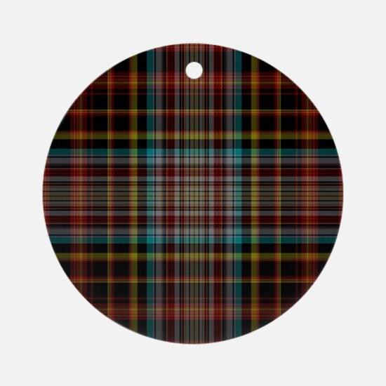 scottish tartan patterns Round Ornament