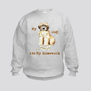Wheaten Ate Homework Kids Sweatshirt