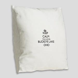 Keep calm you live in Buckeye Burlap Throw Pillow