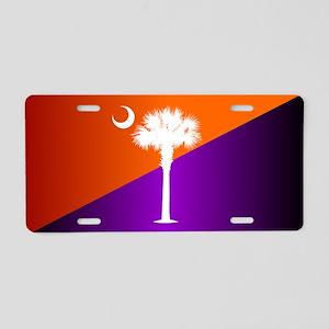 SC Flag (op) Aluminum License Plate