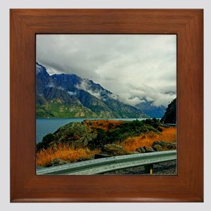 Lake Wakatipu and the Bayonet Peaks Framed Tile