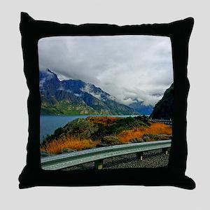 Lake Wakatipu and the Bayonet Peaks Throw Pillow