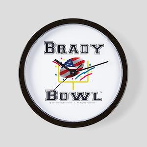 Official Brady Bowl Black-Edge Wall Clock
