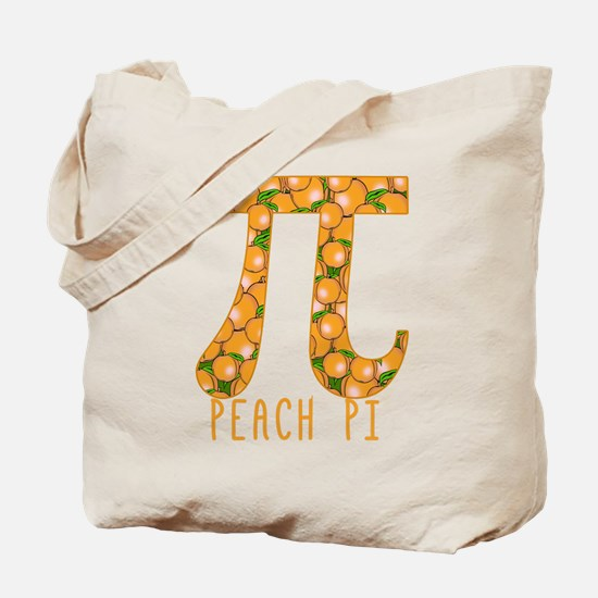 PI Peach Pi Tote Bag