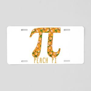 PI Peach Pi Aluminum License Plate