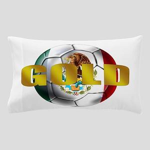 Mexico Soccer Gold Pillow Case