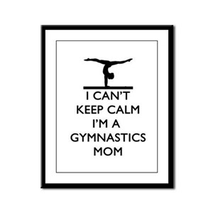 Keep Calm Gymnastics Framed Panel Print