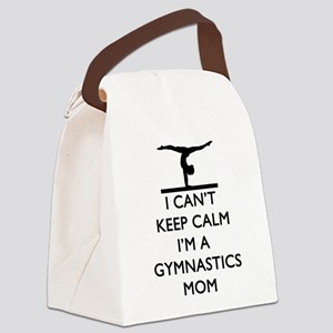 Keep Calm Gymnastics Canvas Lunch Bag