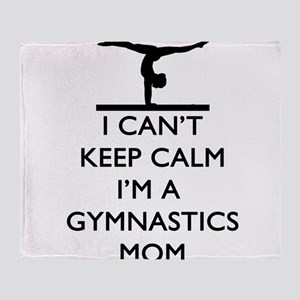 Keep Calm Gymnastics Throw Blanket