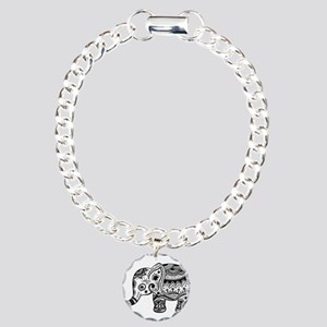 Cute Floral Elephant In Charm Bracelet, One Charm