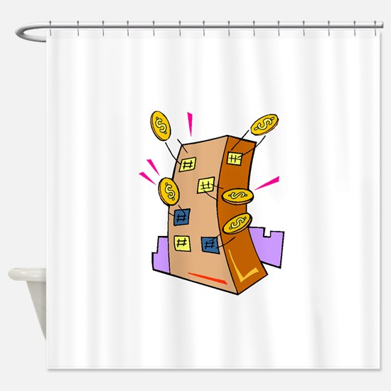 Bank Shower Curtain