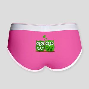 Green Owls Women's Boy Brief