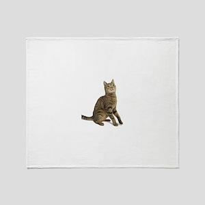 cat tabby Throw Blanket