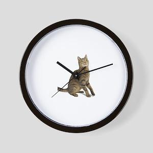 cat tabby Wall Clock