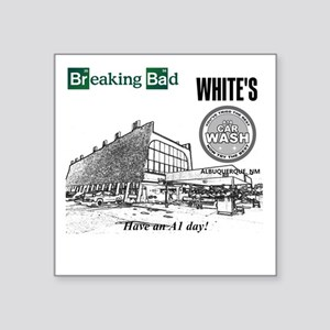 "Breaking Bad Car Wash Square Sticker 3"" x 3"""