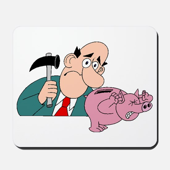 Breaking The Piggy Bank Mousepad