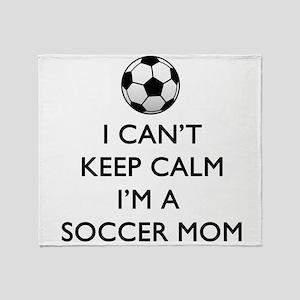 Keep Calm Soccer Mom Throw Blanket