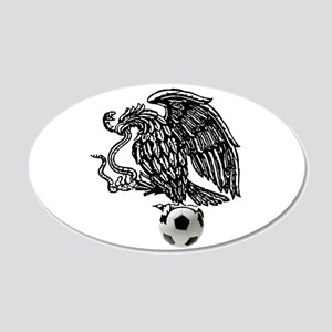 Mexican Football Eagle 35x21 Oval Wall Decal