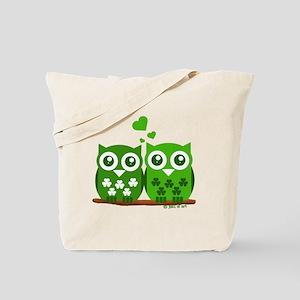 Green Owls Tote Bag