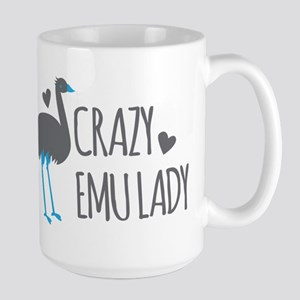 Crazy Emu Lady Mugs