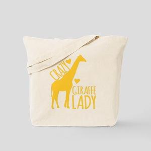 Crazy Giraffe Lady Tote Bag