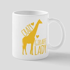 Crazy Giraffe Lady Mugs