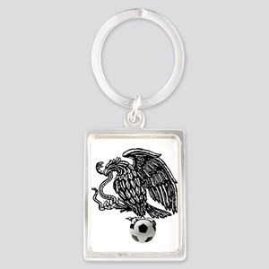 Mexican Football Eagle Portrait Keychain