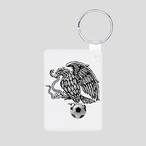 Mexican Football Eagle Aluminum Photo Keychain
