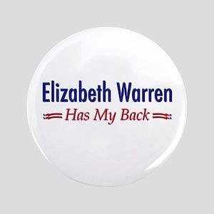 """Warren Has My Back"" 3.5"" Button"