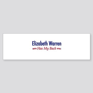"""Warren Has My Back"" Sticker (Bumper)"