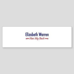 """""""Warren Has My Back"""" Sticker (Bumper)"""