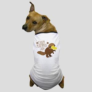 Crazy Platypus Lady Dog T-Shirt