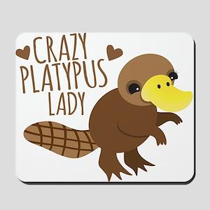 Crazy Platypus Lady Mousepad