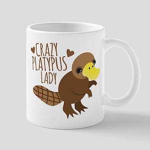 Crazy Platypus Lady Mugs
