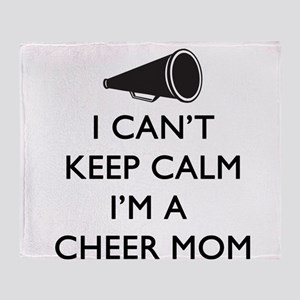 Can't Keep Calm Cheer Mom Throw Blanket