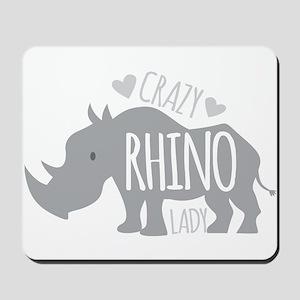 Crazy Rhino Lady Mousepad
