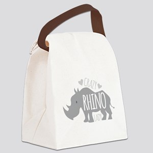 Crazy Rhino Lady Canvas Lunch Bag
