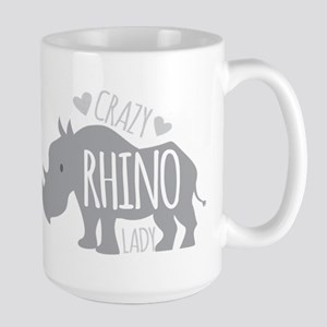 Crazy Rhino Lady Mugs