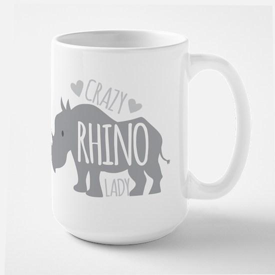 Crazy Rhino Lady Mugs