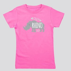 Crazy Rhino Lady Girl's Tee