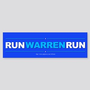 """Run Warren Run"" Sticker (Bumper)"