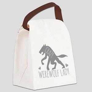 Crazy Werewolf Lady Canvas Lunch Bag