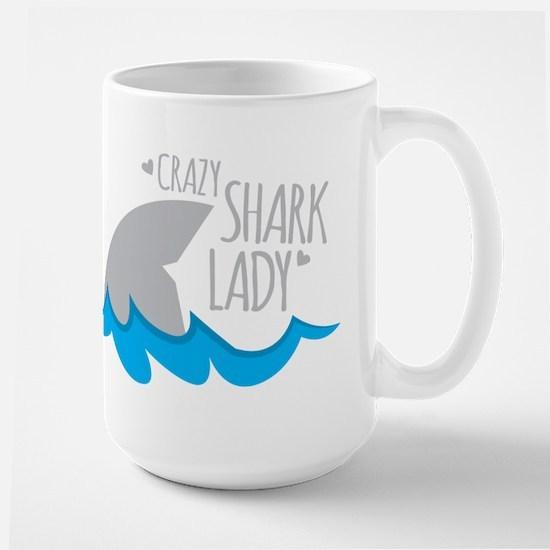Crazy Shark Lady Mugs