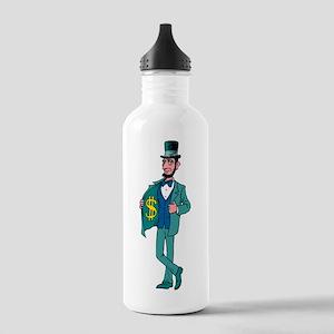 Abraham Lincoln Money Water Bottle