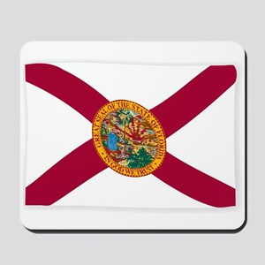 Waving Florida State Flag Mousepad