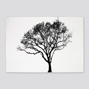 Black Tree 5'x7'Area Rug